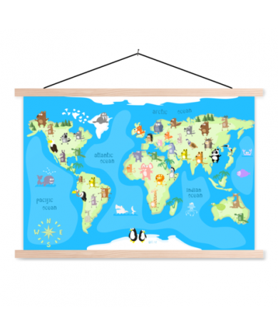 Dancing Animals Classroom World Map