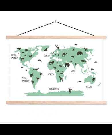 Animals Green Classroom World Map
