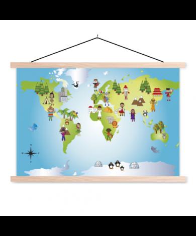 Local Friends Classroom World Map