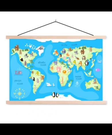 Dancing Animals Classroom World Map