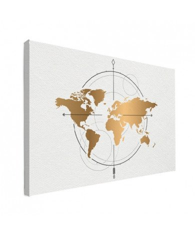 Compass Gold Canvas