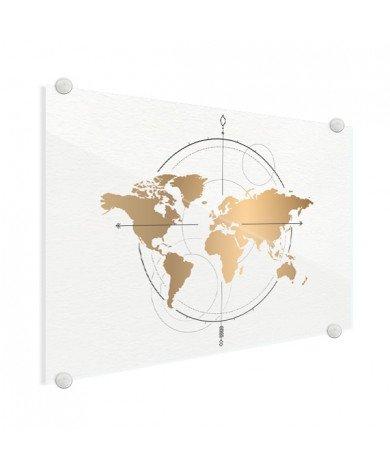 Compass Gold Glass