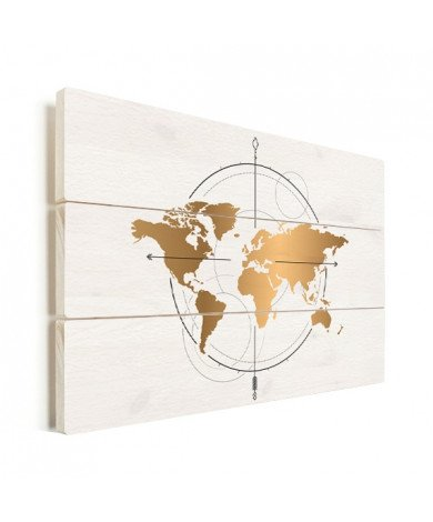 Compass Gold Wood