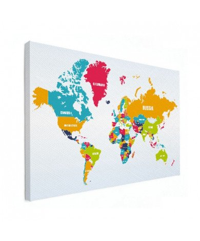 Country Names Canvas