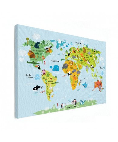 Animals Of The World - Baby Canvas
