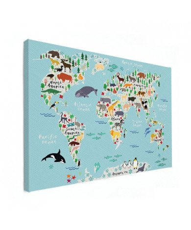 Animals Of The World Canvas