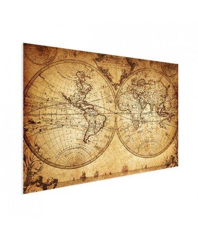 Hemisphere Parchment Poster