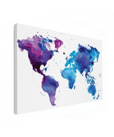 Watercolour Blue Canvas