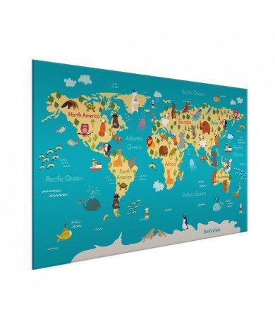 Continents And Oceans Aluminium