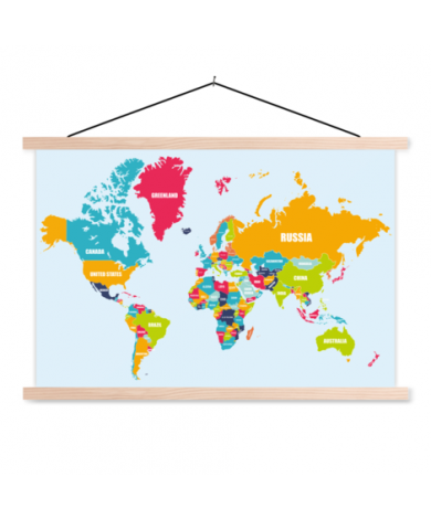 Country Names Classroom World Map