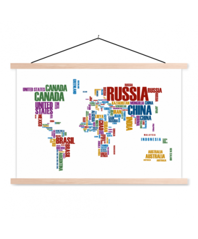 Text Colour Classroom World Map