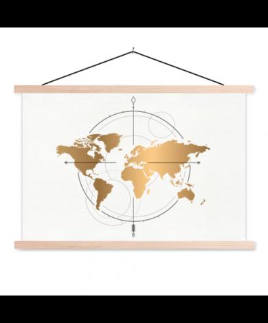 Compass Gold Classroom World Map