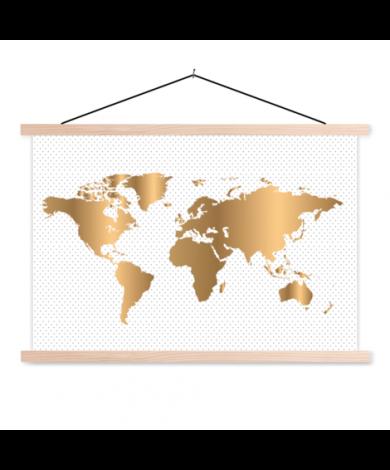 Gold Dots Classroom World Map
