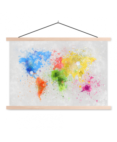 Coloured Ink Classroom World Map