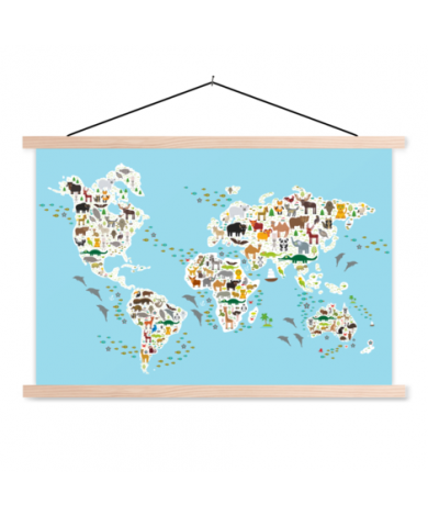Animals Of The World - 2 Classroom World Map