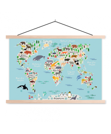 Animals Of The World Classroom World Map