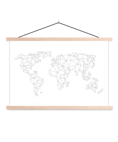 Geometric Line Classroom World Map