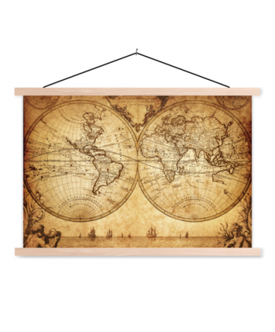 Hemisphere Paper Classroom World Map