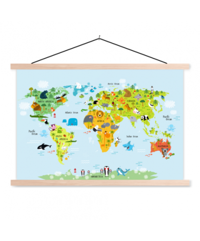 Animals Of The World - Baby Classroom World Map