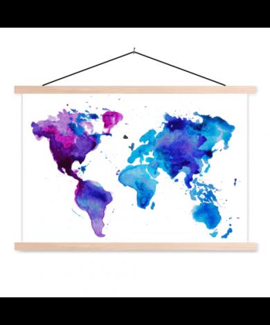 Watercolour Paint Classroom World Map