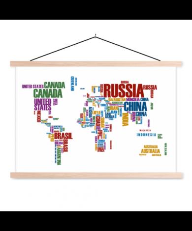 Text Colour Classroom World Map