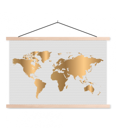 Gold Waves Classroom World Map