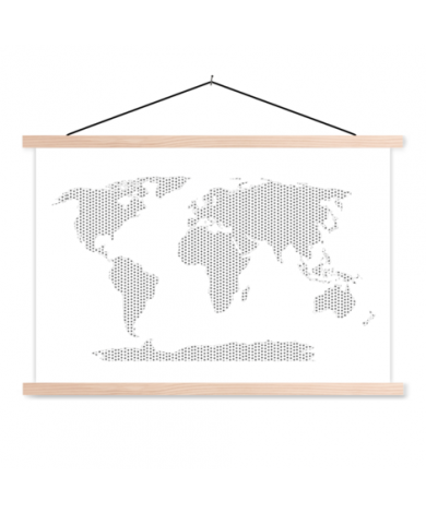 Crosses And Plus Signs Black-White Classroom World Map