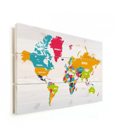 Country Names Wood