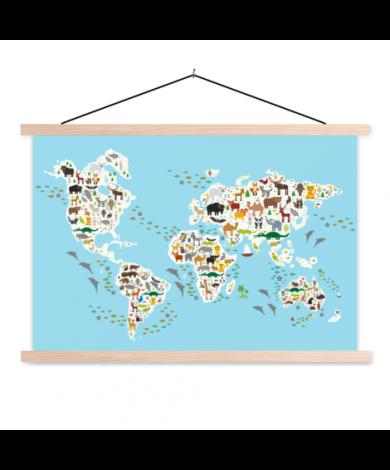 Animals Of The World - 2 Classroom World Map