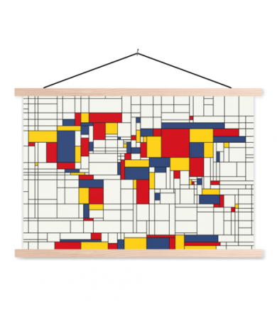 Mondrian Original Classroom World Map
