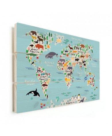 Animals Of The World Wood