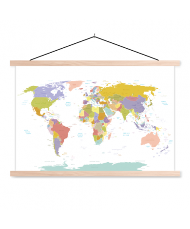 All Countries - Pastel Classroom World Map