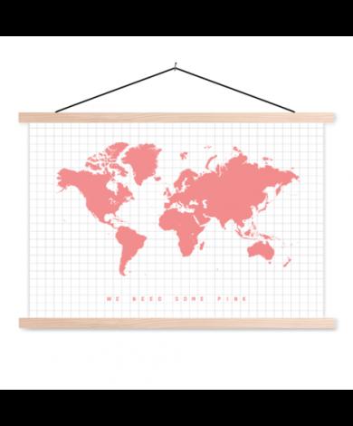 Pink Classroom World Map