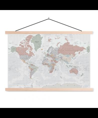 Warm Colours Classroom World Map