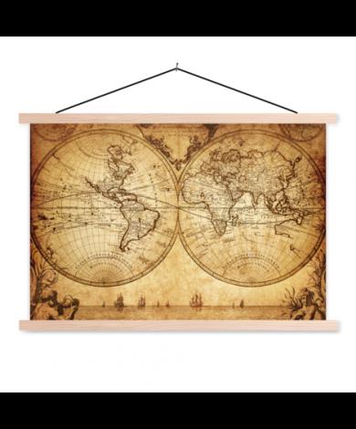 Hemisphere Paper Classroom World Map