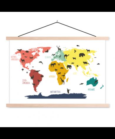 Animals Colours Classroom World Map