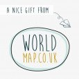 Gift voucher £ 20,00 Worldmap.co.uk