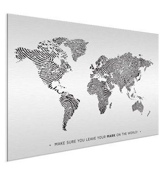 World Map aluminium
