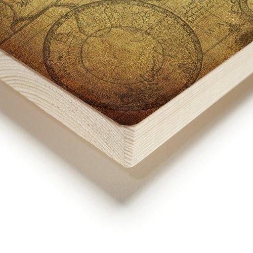on wood detail
