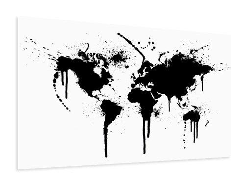 Worldmap printed on poster