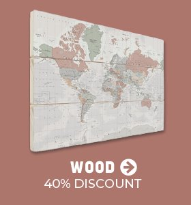 Worldmap wood