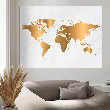 World map on poster