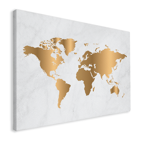 Gold marble on canvas